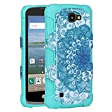 LG Optimus Zone 3 Case, LG K4 Case, LG Spree Case, Rosepark [Shock Absorption] Hybrid Dual Layer Armor Defender Case Cover For LG K4 LTE / LG Optimus Zone 3 / LG Rebel LTE / LG Spree(Mint)