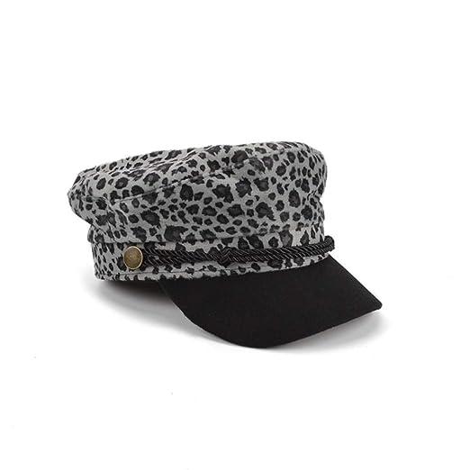 mlpnko Pintor Leopardo Gorra de Moda Gorra de Mujer británica ...