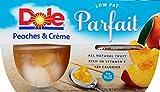 Dole Fruit Bowls, Peaches & Creme Parfait, 4.43 Ounce, 4 Count (Pack of 24) For Sale