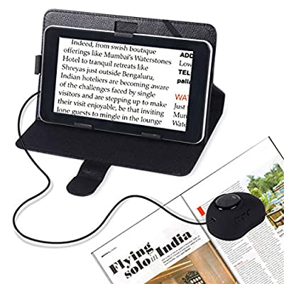7-Inch LCD Video Magnifier Portable Electronic Visual Aid 20X Zoom, 12 Color Modes, AV/TV Output, Image Freeze, for Low Vision, Color Blindness, Macular Degeneration