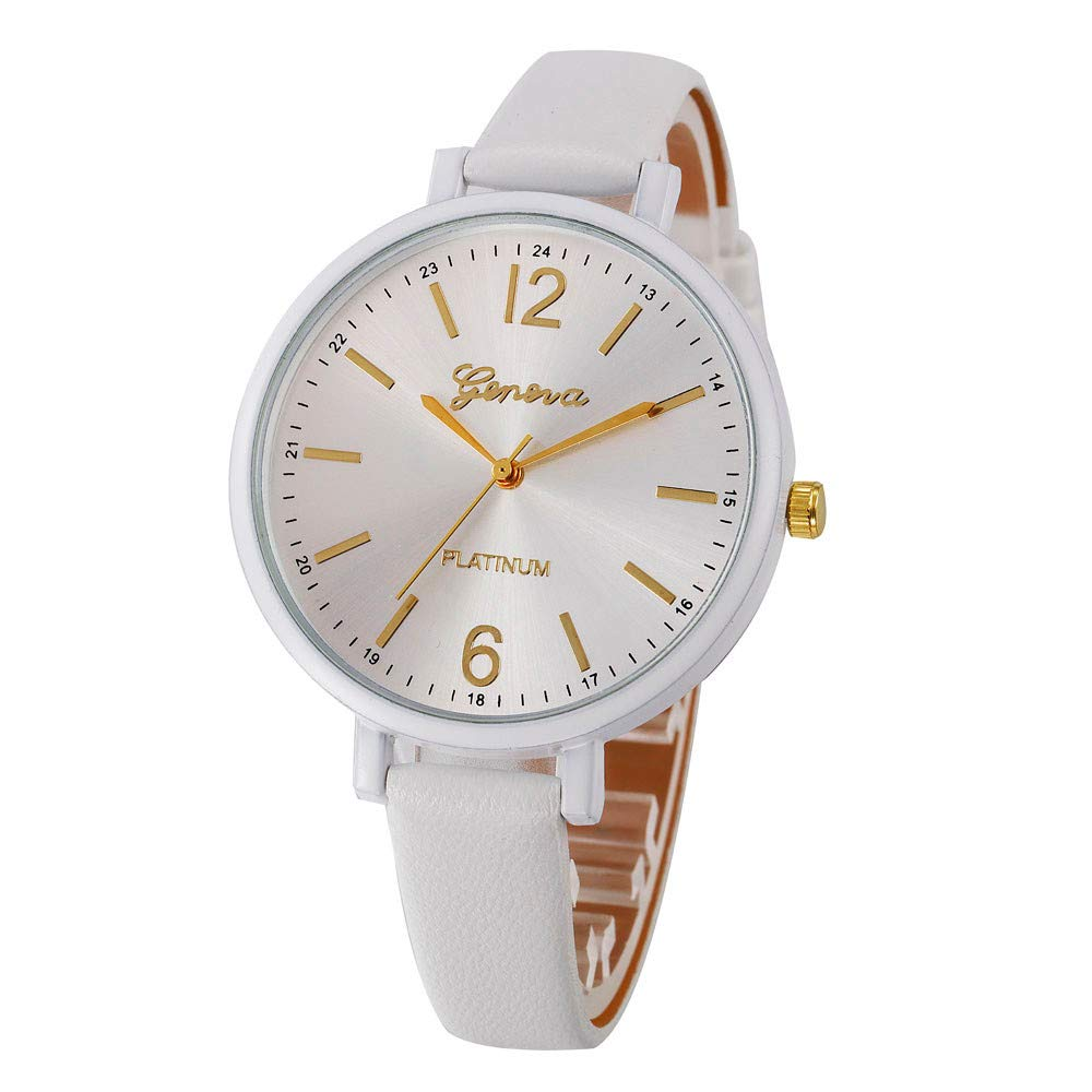 Zaidern Womens Leather Watches Unique Analog Quartz Fashion Clearance Lady Watches Female Watches on Sale Casual Wrist Watches for Women Round Dial Case Comfortable Casual Checkers Faux Leather Watch