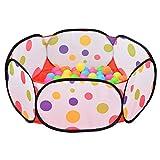 Sakiyr Kids Ball Pit Playpen Ball Play Pool Baby Ball Pool with 50 Balls
