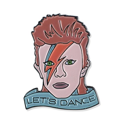 David Bowie Let's Dance Tribute Enamel Lapel Pin- 1 Pin