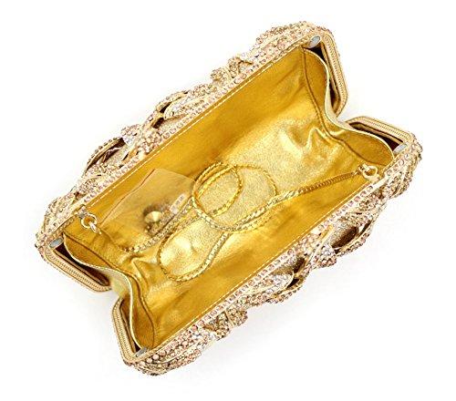 Boda Las De Diamante Bolso Amarillo Noche La De Bolso Bolsa De De De Mujeres Lujo De Embrague Señora La Color 50XpXwq