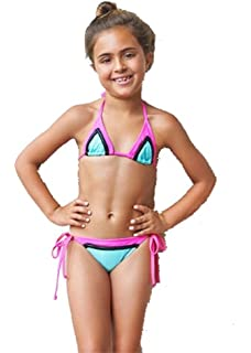 f3aa3e54cfb Amazon.com: PILYQ STARBURST RAINBOW EMBROIDERED BIKINI, 6: Clothing