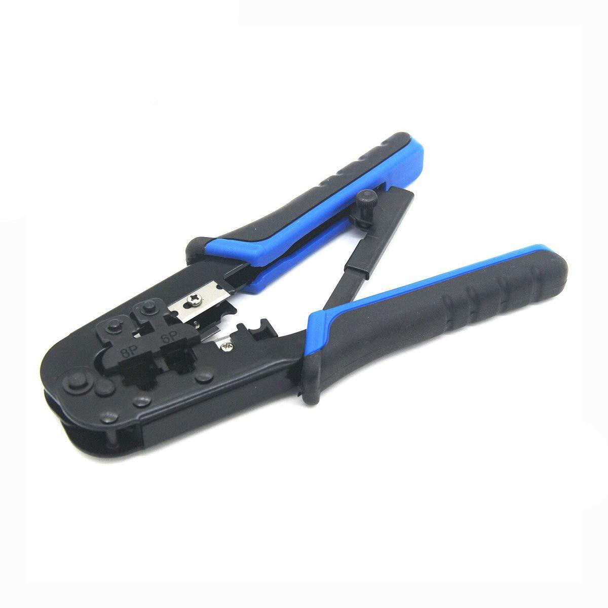Ethernet Crimping Tool,V-Resouring Ratcheting Wire Crimper Cutter Stripper Pliers for EthernetCable RJ45 RJ12 RJ11 by V-Resourcing