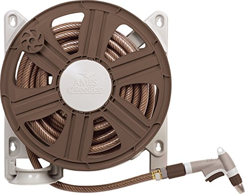 Mount Hose Reel (The AMES Companies, Inc NeverLeak Side Mount Hose Reel with 100-Feet Hose Capacity- 2388340)