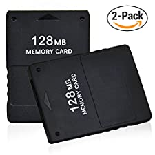 2pcs Pack TPFOON 128MB High Speed Game Memory Card for Sony Playstation 2 PS2