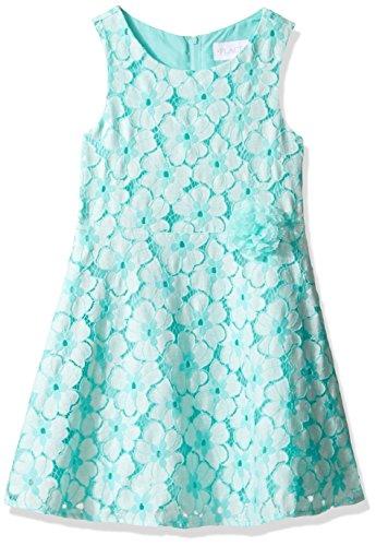 The Children's Place Big Girls' Sleeveless Dressy Dresses, Mellow Aqua 5973, 14