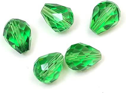 Swarovski bicone Austrian crystal beads faceted Emerald green Choose size