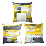 Best Pillow Slipcovers - Decor MI [Just Pillowcase] Modern Grey and Yellow Review
