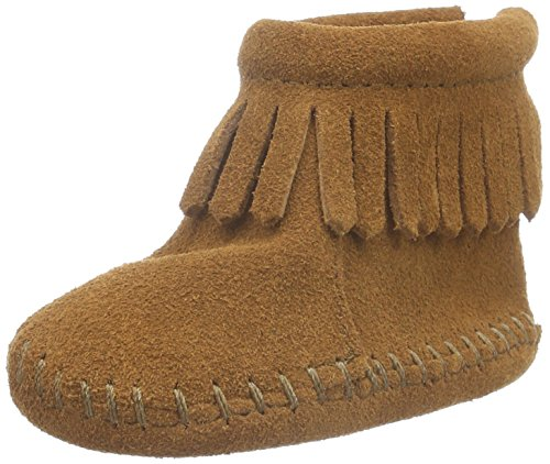 Moc Zip - Minnetonka Back Flap Bootie (Toddler),Brown,6 M US Toddler