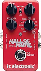 Hall Of Fame Reverb is a collection of the ultimate reverbs, packed tightly in one cool pedal. With Hall of Fame Reverb, you are set for any situation that calls for a touch (or handfuls) of rich reverberation