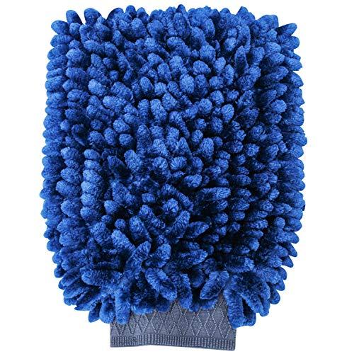 (Viking Car Care 971501 Pearl Chenille Car Wash Mitt, Blue)