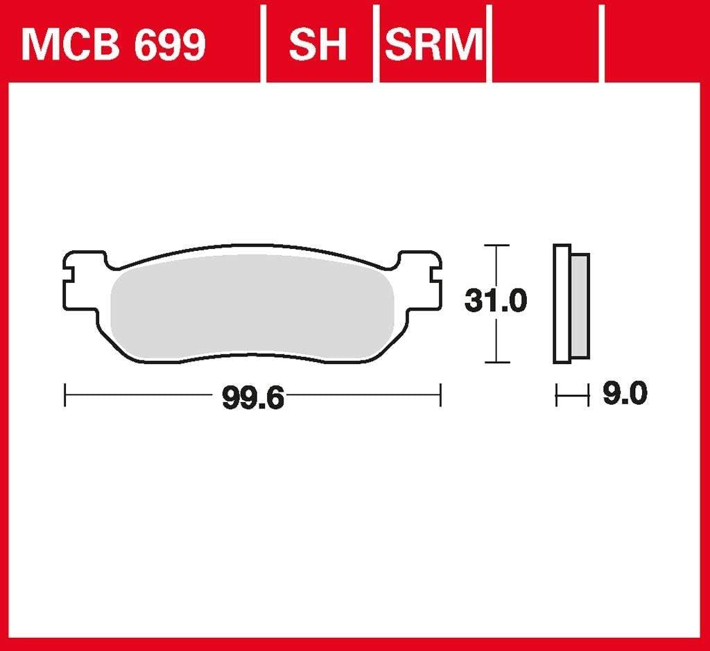 Bremsbelag TRW organischer Allround-Bremsbelag X-Max 300 SH081 17-18 hinten