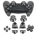 Full Metal Bullet Buttons for PS4 Controller, COCOTOP Aluminium Buttons Thumbsticks Thumb Grip, ABXY Buttons, D-pad, L1 R1 L2 R2 Trigger Buttons for PS4 PS4 Slim PS4 Pro Controller (Gray) Review