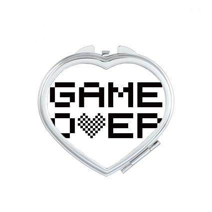 Diythinker Gris Noir Game Over Pixel Coeur Maquillage