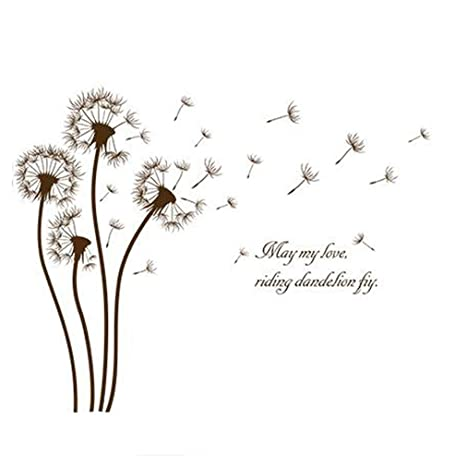 Amazon Com Fashionbeautybuy Dandelion Flower English Letter Wall