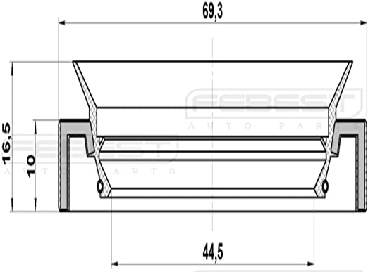90311-47012//9031147012 For Toyota Oil Seal 46X69X10X16,5 Axle Case