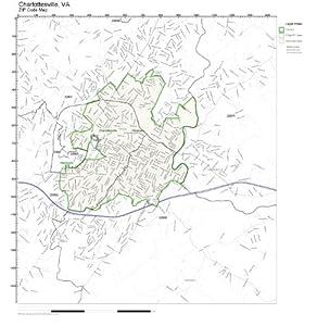 Amazon zip code wall map of charlottesville va zip code map zip code wall map of charlottesville va zip code map not laminated sciox Choice Image