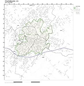 Amazon zip code wall map of charlottesville va zip code map share facebook twitter pinterest sciox Image collections