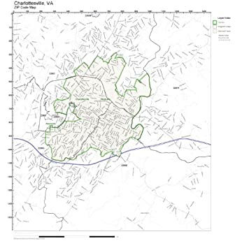 100 ideas map of zip codes in charlottesville va on amazoncom zip code wall map of charlottesville va zip code map sciox Image collections