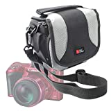Portable Camera Bag For NEW Canon Rebel T6s / Canon Rebel T6i / Canon PowerShot SX410 IS / Canon IXUS 275 HS - With Padded Interior, Multiple Pockets And Shoulder Strap – by DURAGADGET