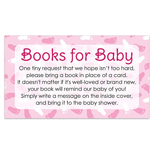 Girl Books for Baby Shower Invitation Inserts | 20 Cards