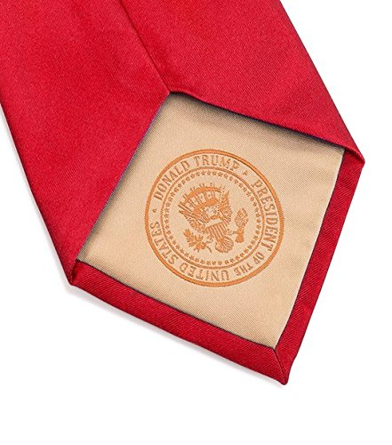 Donald J. Trump Signature Red Neck Tie with Presidential Seal by Presidential Gifts (Image #3)