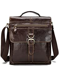 BAIGIO Genuine Leather Briefcase Messenger Bags Cross-body Satchel Handbag