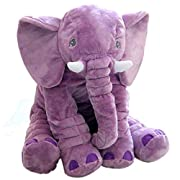 Rainbow Fox Grey Elephant Stuffed Animals Plush Toy Animals Toys (Purple)