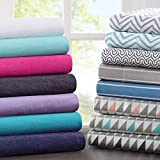 Intelligent Design ID20-690 Cotton Blend Jersey Knit Sheet Set Queen White,Queen