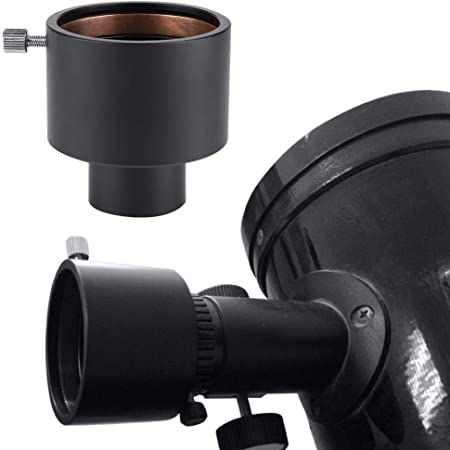 Archuu Eyepiece Mount Adapter,Metal 1.25in to 2in Telescope Eyepiece Adapter 31.7mm to 50.8mm Mount Adapter,Compression Ring Fitting,Wholly CNC Machined Adapter