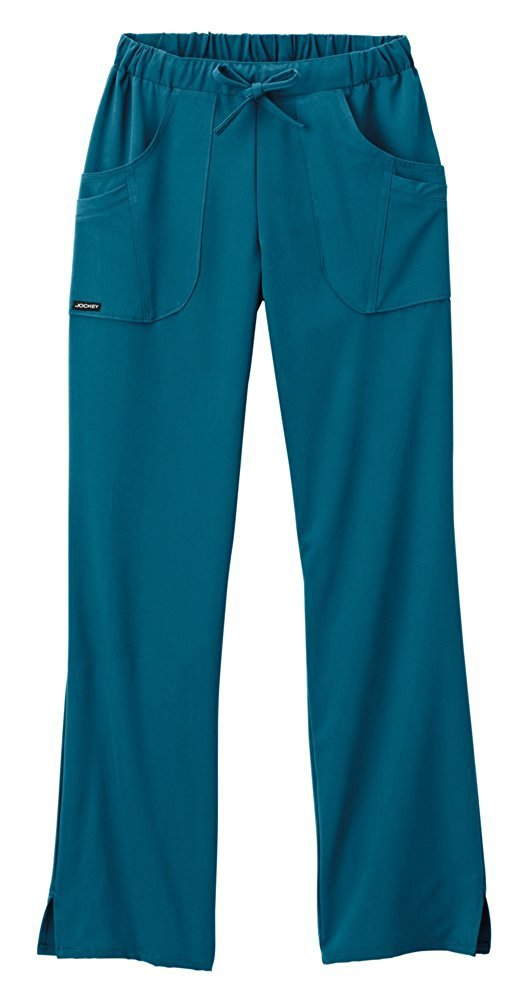 Classic Fit Collection by Jockey Women's Next Generation Elastic Drawstring Waist Scrub Pant Large Tall Caribbean