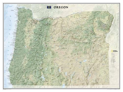 Oregon Wall Map (Oregon [Tubed] (National Geographic Reference Map))