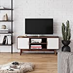 Nathan James Wesley Scandinavian TV Stand Media, Entertainment Center with Cabinet Doors, Console Table with Storage for…