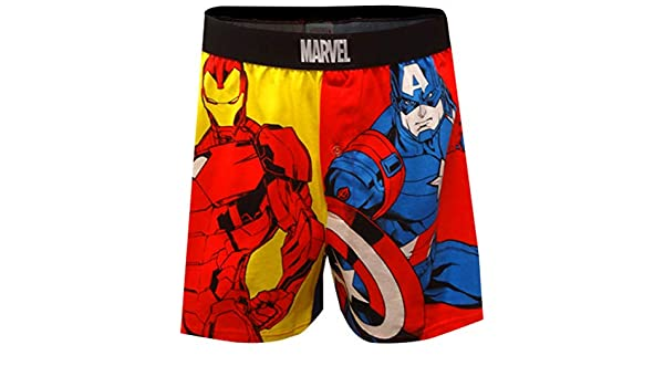 ec55e53c4ab5 Mad Engine Black Panther and Captain America Avengers Boxer Shorts For Men ( Small) at Amazon Men's Clothing store: