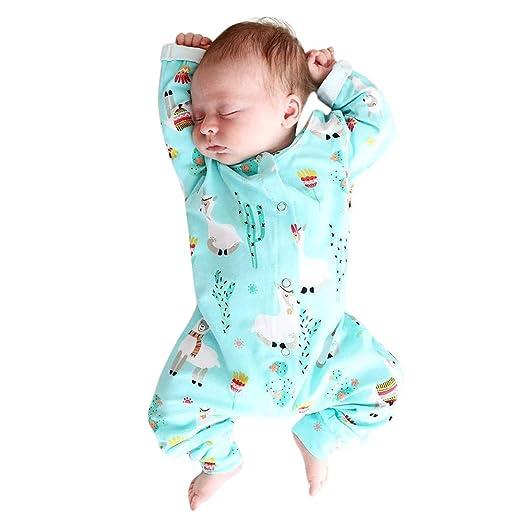 dc657647de2 Pumsun ❤ Infant Baby Girls Boys Long Sleeve Alpaca Print Romper Jumpsuit  Clothes Outfits (