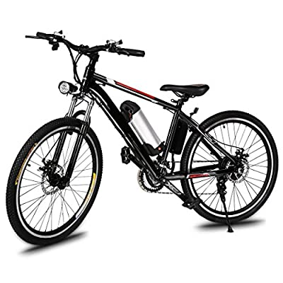 Lantusi Electric Mountain Bike with Removable Large Capacity Lithium-Ion Battery, 26-Inch Wheel, Shimano 21 Speed E-Bikes