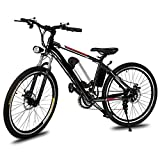 Lantusi Electric Mountain Bike with Removable Large Capacity Lithium-Ion Battery, 26-Inch Wheel, Shimano 21 Speed E-Bikes For Sale