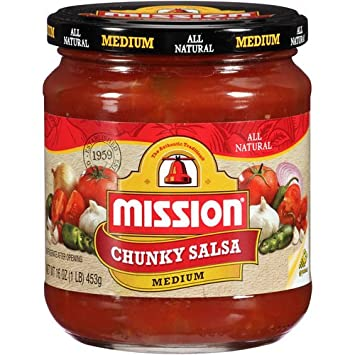 Mission Chunky Medium Salsa, 16 oz (4 Pack)