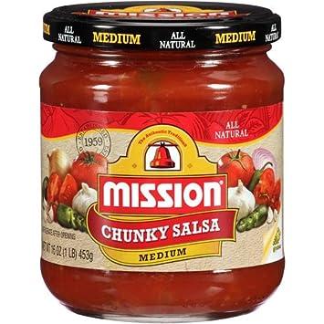Mission Chunky Medium Salsa, 16 oz (4 Pack)