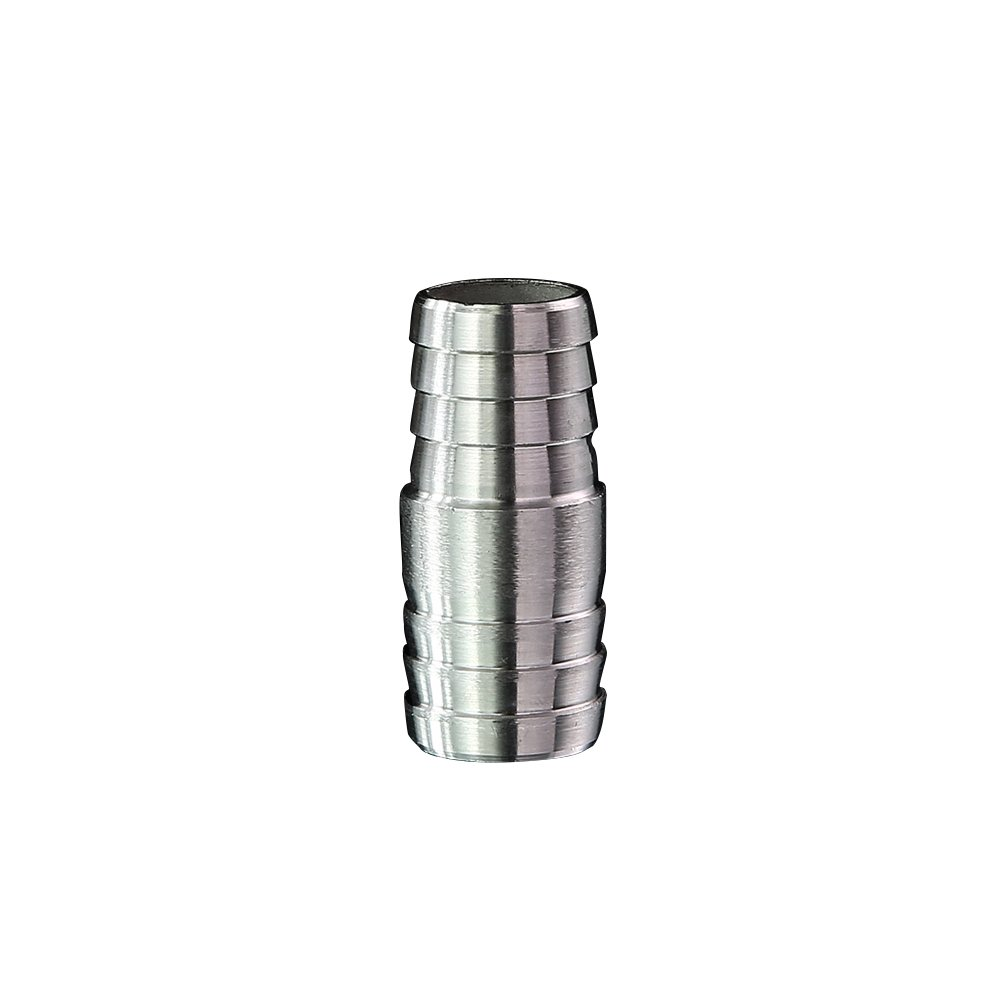 Metalwork 304 Stainless Steel Hose Barb Fitting, Reducer/Reducing Union Splicer Mender, 3/4'' Barb x 1-1/4'' Barb, 19mm to 32mm Hose ID (Pack of 2)