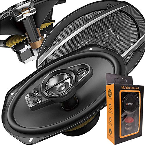 Pair of Pioneer 6x9 Inch 5-Way 700 Watt Car Audio Speakers   TS-A6990F (2 Speakers) + Free Gravity Mobile Bracket -