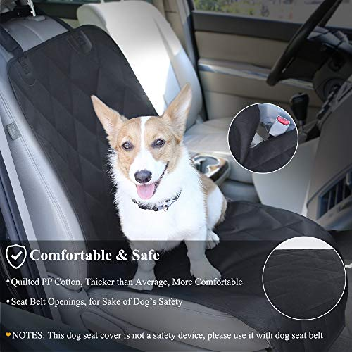SUVs & MPVs No-skirt Design Back Seat Protectors for Small & Large Cars Quilted 600D Oxford Pet Seat Cover Vivaglory Dog Car Seat Covers S Cream