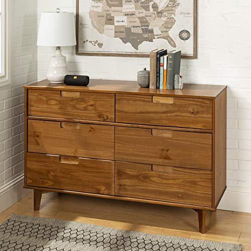 WE Furniture AZR6DSLDRCA Dresser, Caramel (Finish Caramel Medium)