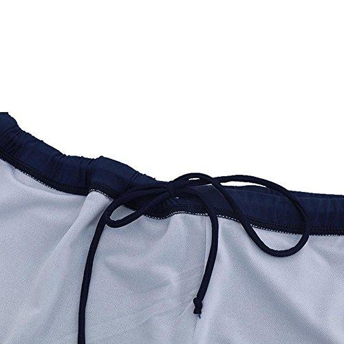 BBYaKi Falda Partida Straight Gran Tamaño Traje De Baño De Impresión Black