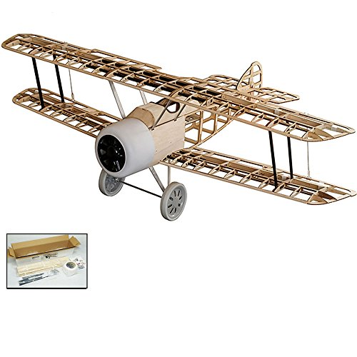 S111 Radio Remote Controlled Electric Gasoline Gas Glow Powered Aircraft Biplane Sopwith Camel Wingspan 1520mm with Fiberglass Cowling Laser Cut KIT ;Need to Build Model for Adults (S1111)