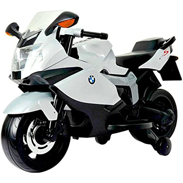 Amazon Com Best Ride On Cars Bmw 12 V Motorcycle White Toys Games