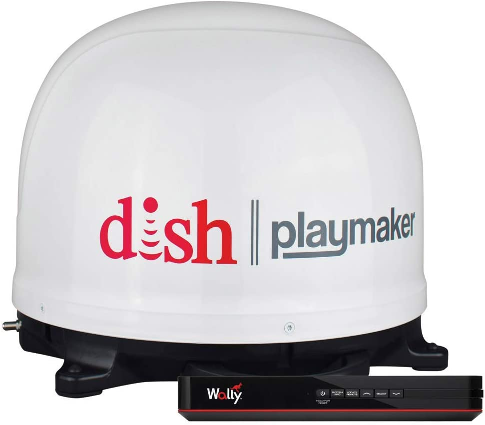 Winegard - Receptor de satélite Wally HD con antena de satélite portátil blanca PL7000R DISH Playmaker HD